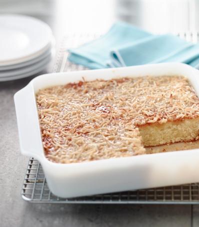Coconut Hot Milk Cake