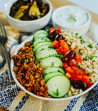 Middle Eastern Beef Bowl